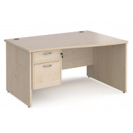 Next-Day Value Line Deluxe Panel End Right Hand Wave Desk 2 Drawers