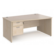 Value Line Deluxe Panel End Right Hand Wave Desk 2 Drawers