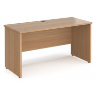 Value Line Deluxe Panel End Narrow Rectangular Desk