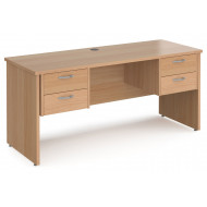 Value Line Deluxe Panel End Narrow Rectangular Desk 2+2 Drawers