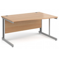 Next-Day Tully Deluxe Right Hand Wave Desk