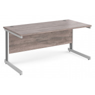 All Grey Oak Deluxe Rectangular Desk