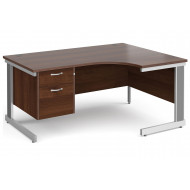 Tully Deluxe Right Hand Ergonomic Desk 2 Drawers