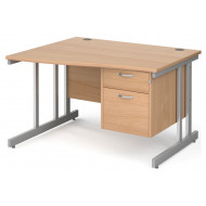 Next-Day Tully II Left Hand Wave Desk 2 Drawers