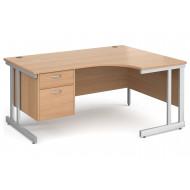 Tully II Right Hand Ergonomic Desk 2 Drawers