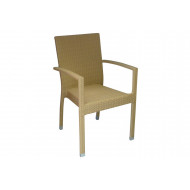 Soneli Rattan Stacking Open Arm Chair