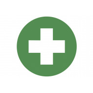 Sheet of safety labels (first aid)
