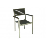 Tangli Aluminium Stacking Arm Chair