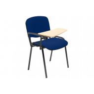 Pack Of 4 Black Frame Conference Chairs With Wooden Writing Tablet