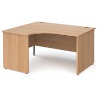 Next-Day Tully Panel End Left Hand Ergonomic Desk