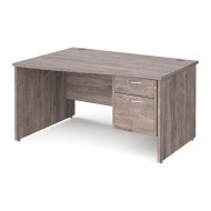 Tully Panel End Left Hand Wave Desk 2 Drawers