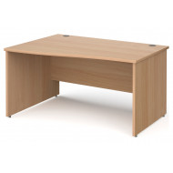 Tully Panel End Left Hand Wave Desk
