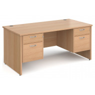 Tully Panel End Rectangular Desk 2+2 Drawers
