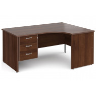 Tully Panel End Right Hand Ergonomic Desk 3 Drawers
