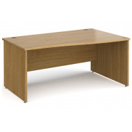 All Oak Panel End Right Hand Wave Desk