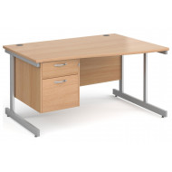 Tully I Right Hand Wave Desk 2 Drawers
