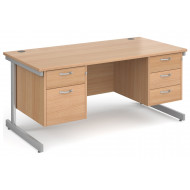 Tully I Rectangular Desk 2+3 Drawers