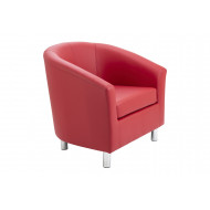 Amanda Leather Look Tub Armchair