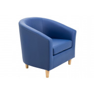 Paglia Single Tub Seat With Wooden Feet