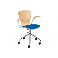 Serena Swivel Chair With Upholstered Seat