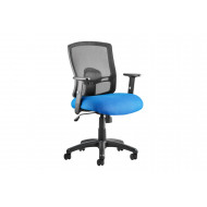 Belarus 1 Lever Mesh Back Chair With Blue Seat