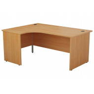 Progress Panel End Left Hand Ergonomic Desk