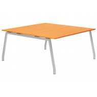 Next-Day Campos A-Frame 6-8 Person Meeting Table (Orange)