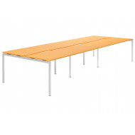 Next-Day Campos H-Leg 8 Person Back To Back Bench Desk (Orange)