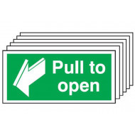 Pull To Open Safety Sign (Multipack)