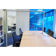 Clear Polyvinyl Protective Desk Divider Screen