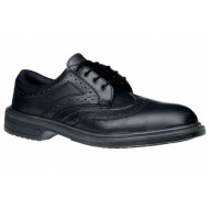 Brogue Leather Shoes With Steel Toecap
