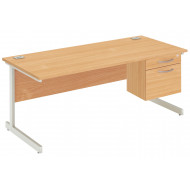 Next-Day Proteus I Clerical Desk With 2 Drawers