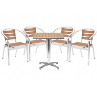 Paulo Square Table And 4 Armchairs