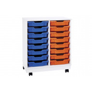 Pearl 16 Shallow Tray Mobile Storage Unit