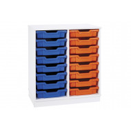 Pearl 16 Shallow Tray Static Storage Unit