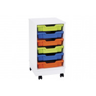 Pearl 6 shallow tray mobile storage unit