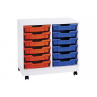 Pearl 12 shallow tray mobile storage unit