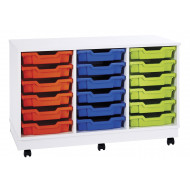 Pearl 18 Shallow Tray Mobile Storage Unit