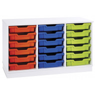 Pearl 18 Shallow Tray Static Storage Unit