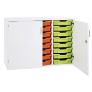 Pearl 24 Shallow Tray Static Storage Unit With Doors