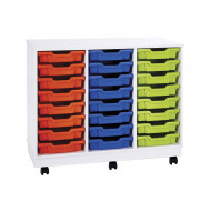 Pearl 24 Shallow Tray Mobile Storage Unit
