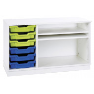 Pearl Static Combination Unit With 6 Shallow Trays & 2 Adjustable Shelves