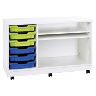 Pearl Mobile Combination Unit With 6 Shallow Trays & 2 Adjustable Shelves