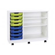 Pearl Mobile Combination Unit With 8 Shallow Trays & 2 Adjustable Shelves
