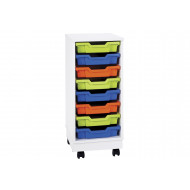 Pearl 8 Shallow Tray Mobile Storage Unit