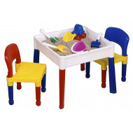 3-In-1 Storage Block Desk And Chairs