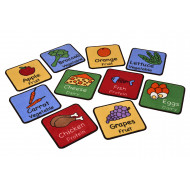 Healthy Eating Placemat Rugs (Pack Of 10)