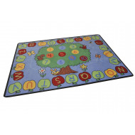 Trees And Alphabet Play Rug