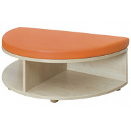 Rounded Edge Storage And Seat Unit