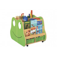 Frog Book Storage With Trays